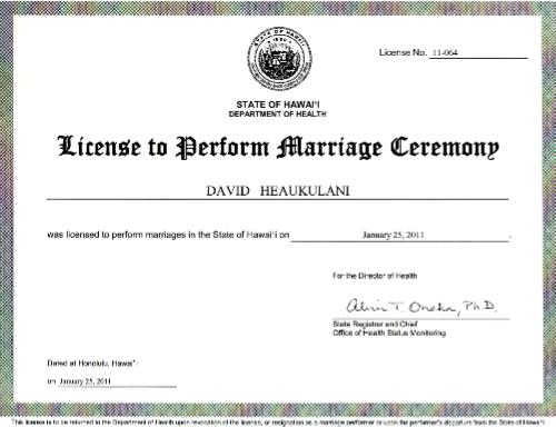Marriage Certificate In Hawaii - Best Design Sertificate 2018
